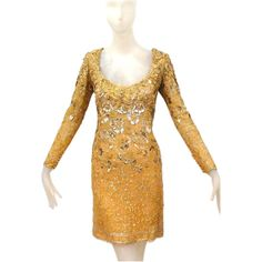1stdibs - 1980s Lace and Embroidered Christian Dior haute couture Dress at 1stdibs.com