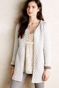 Quilted Millay Coat - anthropologie.com - $198 - knit CYA