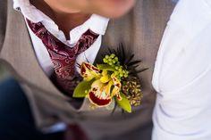 Groom Boutonnière Orchird wedding flower wedding party flower groom attire groom outfit groom tie detail photo wedding photography wedding details rustic wedding farm wedding country wedding informal wedding attire wedding vest