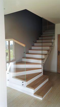 Znalezione obrazy dla zapytania nowoczesne drzwi z kołatka Guest Houses, Stairs, Living Room, Architecture, Decoration, Design, Home Decor, Laminate Flooring, Bouldering