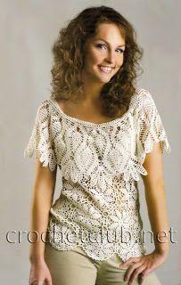 Top z dzianiny Crochet Woman, American Women, Native American, Cute Crochet, Crochet Clothes, Women Wear, Ladies Wear, Shirts, Knitting