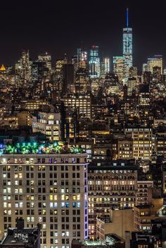 Bright Lights, Big City - view of @OneWTC by...