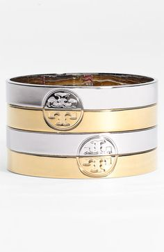 Tory Burch Twin Logo Bangles