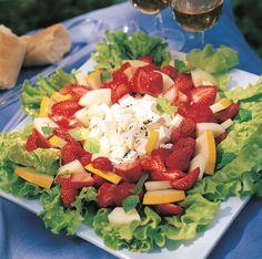 Finnish Recipes, Feta, Cobb Salad, Vegetarian Recipes, Salads, Baking, Sweet, Kitchen, Candy