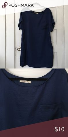 Silky Navy Sack Dress Great paired with skinny belt and wedges. Can be casual or more dressed up! Old Navy Dresses