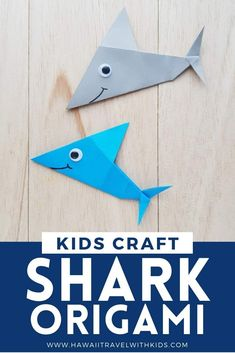 Origami Fish Easy, Origami Shark, Origami Easy Step By Step, Easy Origami For Kids, Easy Oragami, Origami Instructions For Kids, Shark Week Crafts, Shark Craft, Fish Crafts