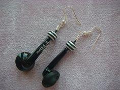 Boucles d'oreilles recyclage : Boucles d'oreille par made-in-maud