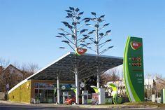 green petrol station - Buscar con Google