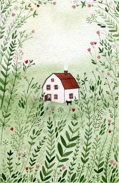 Drawing Of Children's Cottage | By Yelena Bryksenkova