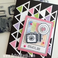 """I seriously can't get enough of this stamp set!    It's called """"Life in Pictures"""" and it's the   COOL Close To My Heart ~ April Stamp of ..."""