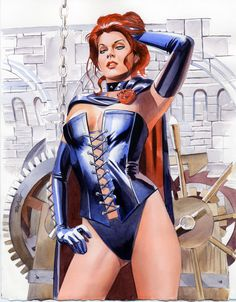 Characters: Dark Queen 'aka' Phoenix Force- Jean Grey´s Clone (Manipuled By Sebastian Shaw & Mastermind) . From: Uncanny X- Men, Marvel Comic Series. Art By: Mike Mayhew,