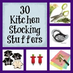 kitchen stocking stuffers or for any occasion, buy a few, and maybe pack them into a serving dish and wrap a ribbon around it all. Or  include a cookbook and pack them in a basket with tissue paper for a great gift.
