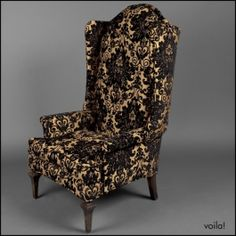 The Black & Gold Royale High Back Chair