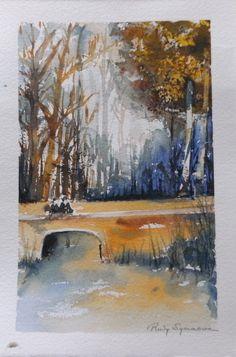 aquarel, les Willy van Esch