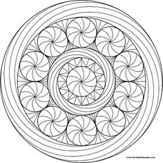 Peppermint Mandala to color- transparent PNG
