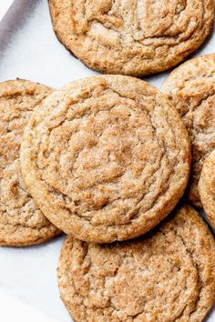 This is easily the BEST snickerdoodle recipe. They're thick, soft, and full of cinnamon flavor. The addition of maple gives these snickerdoodle cookies a delicious flavor unlike any other snickerdoodle. Honestly, every snickerdoodle recipe should have it! Chocolate Chip Shortbread Cookies, Toffee Cookies, Spice Cookies, Yummy Cookies, Cinnamon Cookies, Whoopie Pies, Macarons, Cookie Recipes, Dessert Recipes