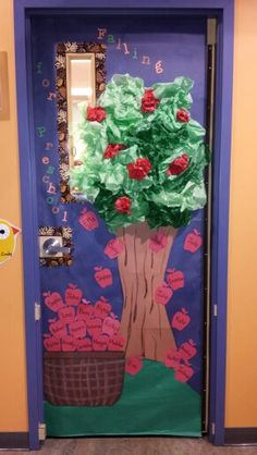 Owl And Apple Themed Door Bulletin Board Decoration