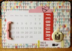 February Project Life title card by juls2000 at Studio Calico