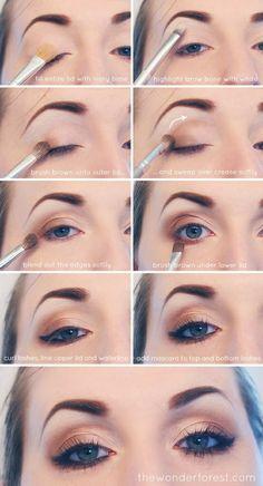 Soft eye makeup tutorial step by step