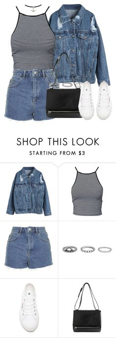"""""""Untitled #3038"""" by london-wanderlust ❤ liked on Polyvore featuring Estradeur, Topshop, Forever 21, Superga and Givenchy"""