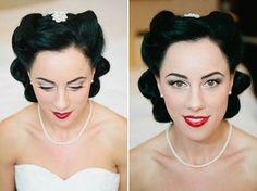 1940s inspired bride