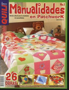Revista de Patchwork gratis Patchwork Tutorial, Sewing Magazines, Magazine Crafts, Patch Aplique, Book Quilt, Patchwork Bags, Quilt Bedding, Bedspread, Book Crafts