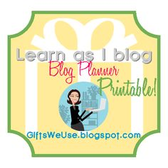 FREE Blog Planner Printable with monthly calendar and blog post worksheet including task/supply list, photo list, and post publish checklist {via Gifts We Use}