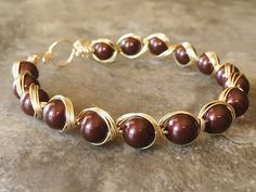 Wire wrapping bracelet