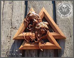 Walknut Raven Valknut Viking Symbol Plaques Home Decor Norse