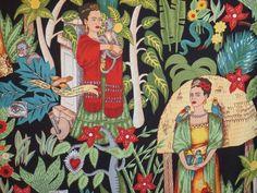 Tela FQ :: Frida's garden :: de nosgustanlosretros por DaWanda.com
