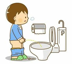 Boys can pee standing up.