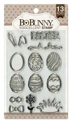 BoBunny+-+Clear+Acrylic+Stamps+-+Eggcellent+at+Scrapbook.com