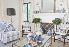 I used well-collected accents of color and kept foundation pieces neutral. That way, pattern can be removed and re introduced in a variety of colors throughout the year. Coffee Table: Restoration Hardware. Floor Lamp: Jonathan Adler lHome Bunch Beautiful Homes of Instagram Bryan Shap @realbryansharpiving-room-furniture