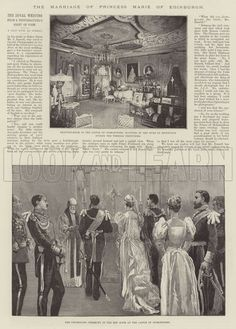The Marriage of Princess Marie of Edinburgh. Illustration for The Illustrated London News, 21 January 1893.