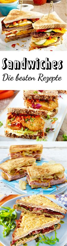 Ein #Sandwich ist der ideale #Snack: Zwei Scheiben frisches Brot, und dazwischen frischer Aufschnitt, Käse, knackiges Gemüse und eine leckere Soße wie Mayonnaise oder Senf. Lasse dich von unseren Sandwich-Rezepten inspirieren und hole dir neue Anregungen. Vom klassischen Sandwich bis hin zum Pide-Sandwich ist hier alles dabei.