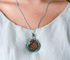 Free shipping Ammonite pendant necklace Gift by SvitlanaGurinaArt