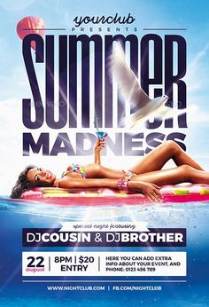 Summer Pool Party Psd Flyer Template  HttpsFfflyerComSummer