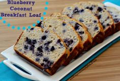 Blueberry Coconut Breakfast Loaf