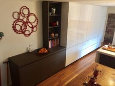 Another shot of our Blackburn South Kitchen. This wall unit features 8 deep drawers, 2 x bifold pantry cabinets, an integrated fridge and a feature Grey Oak buffet unit. Make sure to zoom in on the beautiful timber grain on the buffet! Kitchen Pantry Cabinets, Diy Cabinets, Buffet, Integrated Fridge, Interior Styling, Interior Design, Grey Oak, Deep, Built Ins