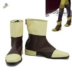 Puella Magi Madoka Magica Mami Tomoe Cosplay Shoes Boots Custom Made Yellow&Brown - Telacos sneakers for women (*Amazon Partner-Link)