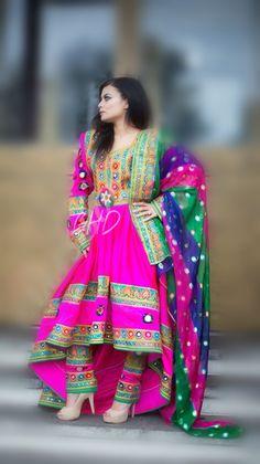 #afghan #dress #pink #afghani #style #girl