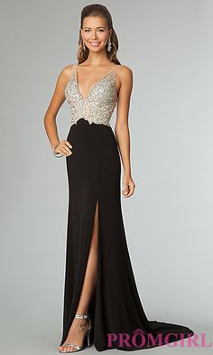 Sleeveless Evening Gown with Open Back JVN by Jovani at PromGirl.com