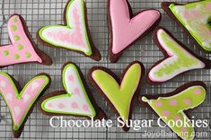 Chocolate Sugar Cookies:  I baked several batches of these this past winter and they were fantastic.  I liked the chocolate flavor much better than that of any plain sugar cookie recipe.  The dark color contrasts nicely with royal icing as well.  This is my new favorite recipe for rolled cookies.