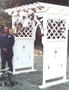 Outdoor Garden Project: Wedding Arbor