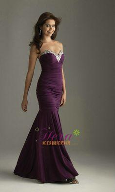 Mermaid Purple Prom Dress