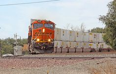 BNSF 6552 East - A hefty Q train passes through Canyon, TX on its way east