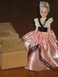 Blue Bonnet Brazil Vintage Plastic Doll