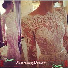 Hoi! Ik heb een geweldige listing gevonden op Etsy https://www.etsy.com/nl/listing/196112370/lace-wedding-dress-long-sleeves-wedding