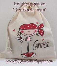 Las cositas de Pepita: Bolsas de tela Painted Bags, Hand Painted, Handmade Bags, Handmade Crafts, Textile Dyeing, Purse Tutorial, Diy Couture, Fabric Bags, Kids Bags