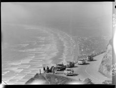 View from Paekakariki Hill, Kapiti Coast - Alexander Turnbull Library The Hutt, Old Pictures, Funeral, Niagara Falls, New Zealand, Past, 16 March, Travel, Girls